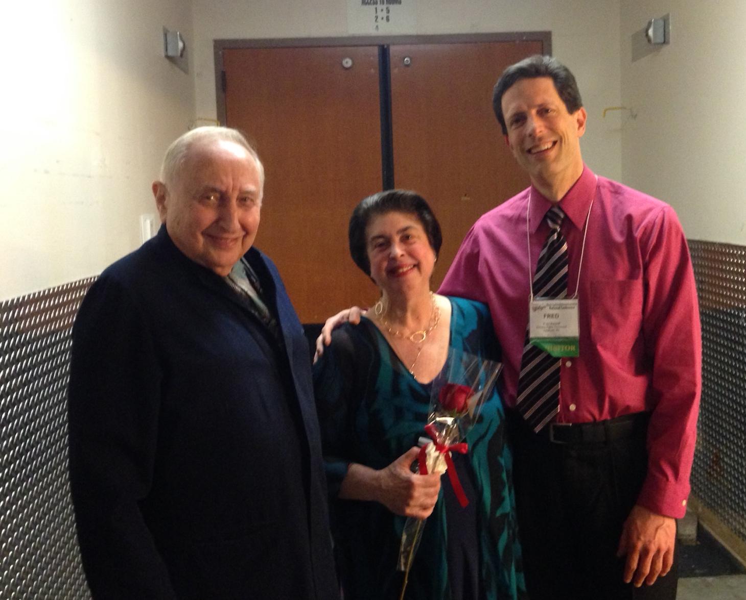 With Seymour Bernstein after Ann Schein's recital, 2015.